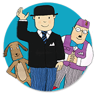 Mr Benn, Eddie and shopkeeper