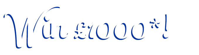 Text that reads win £1000*