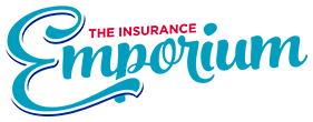The Insurance Emporium logo in red and blue