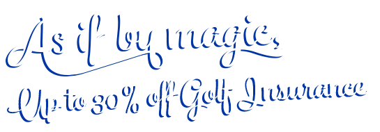 Text telling you that you can get up to 30% off golf insurance