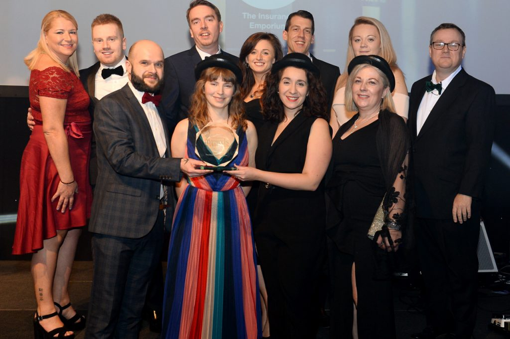 Members of the team accept the award at the Yorkshire Financial Awards 2019