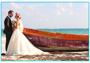 How to plan your wedding abroad on a budget - couple on the beach