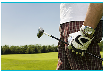 Men's Golf Fashion - man in checked trousers
