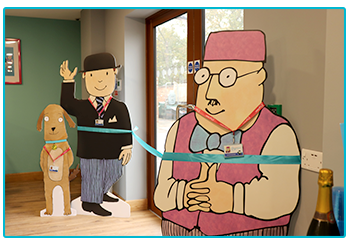 Take a look at our new facilities - Mr Benn and the Shopkeeper open the proceedings