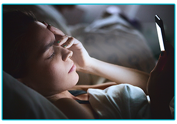 Reasons you can't get a good night's sleep - screentime