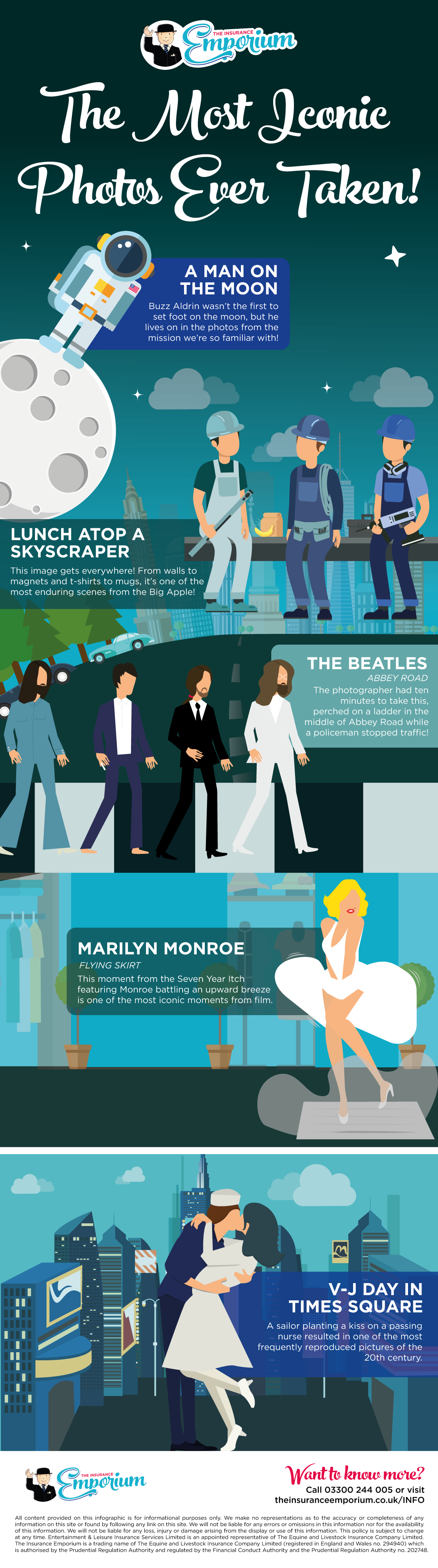 Infographic - the most iconic photos ever taken