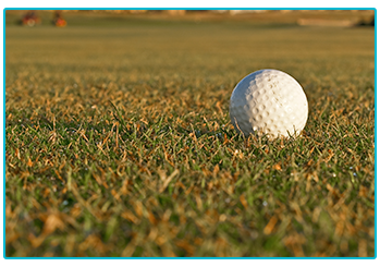 Gold trends 2020 - gold ball on the green