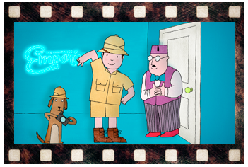 A still from the finished advert.