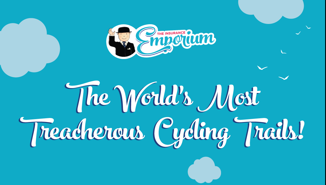World's most treacherous cycling trails infographic
