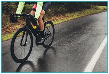 Winter cycling - cycling in wet weather