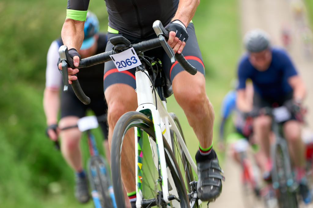 Cyclist in race